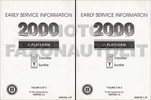 2000 Cavalier  U0026 Sunfire Repair Shop Manual Original 2