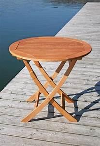 Gartentisch Aus Holz : gartentisch klapptisch stockholm rund 90 cm aus eukalyptus ~ Eleganceandgraceweddings.com Haus und Dekorationen