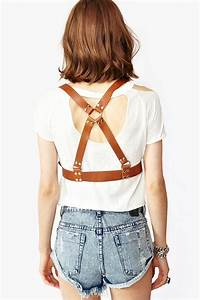 Nasty Gal Captive Leather Harness In Camel  Natural