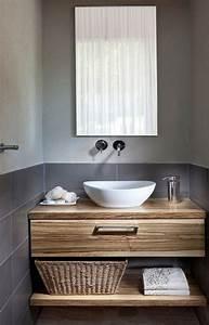 Waschtisch Aus Holz : waschtisch holz mit aufsatzwaschbecken ~ Michelbontemps.com Haus und Dekorationen