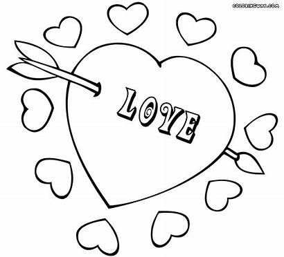 Heart Coloring Pages Arrow Colorings