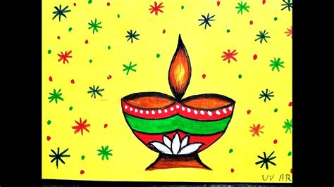 deepavali easy drawing  wallpaper hd collection