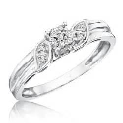 10 carat engagement ring 1 10 carat t w 39 s engagement ring 10k white gold my trio rings bt133w10ke