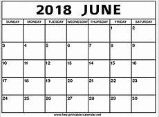 June 2018 Calendar Print Calendar from Freeprintable