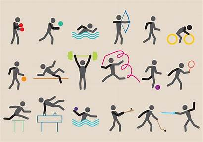 Olympic Vectors Sports Clip Swimming Pictogram Icons