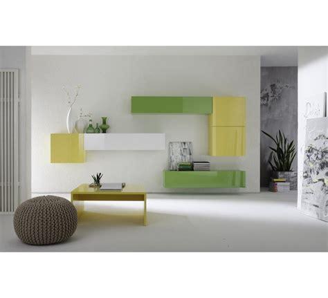canapé cuir vert meuble suspendu 4143