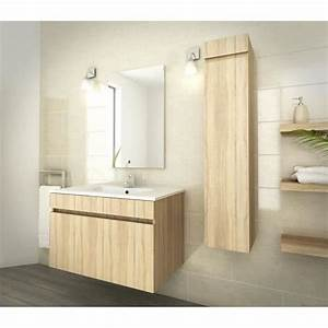 luna ensemble salle de bain simple vasque l 80 cm decor With ensemble salle de bain simple vasque l 80 cm