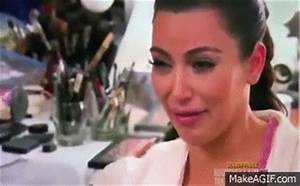 Kim Kardashian Crying on Make a GIF