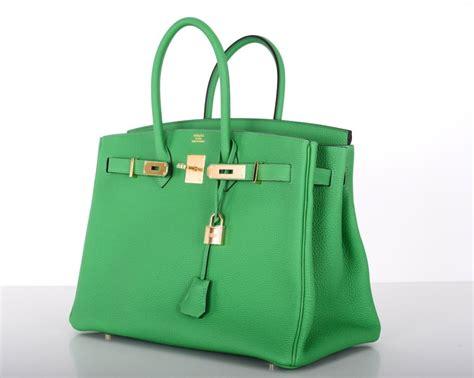 New Color Hermes Birkin Bag 35cm Bambou Green Gold