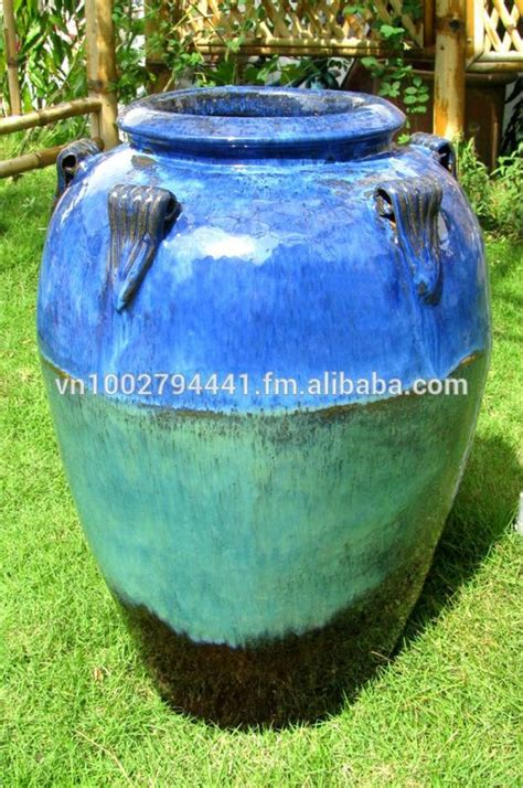 Outdoor Pottery Planters by Outdoor Pottery Pots For Plants Outdoor Glazed Jars