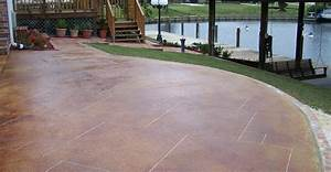 Stained concrete patios the concrete network for Stained concrete patio floors