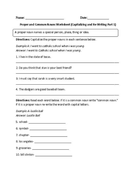 Best 25+ Proper Nouns Worksheet Ideas On Pinterest  Proper Nouns, Capital 1 And Common And
