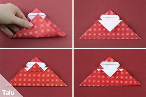 origami weihnachtsmann tutorial origami handmade