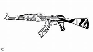 Images Of Guns Drawings Ak47 Summer
