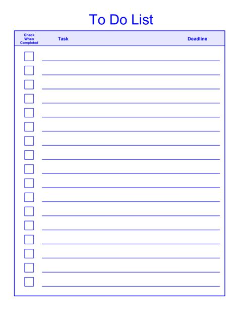printable   list templates kanza