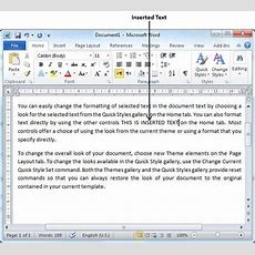 Insert Text In Word 2010