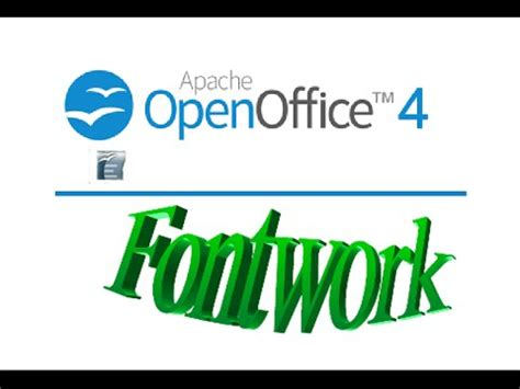 how to use word how to use word art fontwork in open office youtube