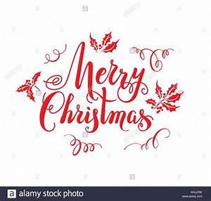 Merry Xmas Schriftzug : rot frohe weihnachten schriftzug vektor abbildung bild 165752381 alamy ~ Buech-reservation.com Haus und Dekorationen