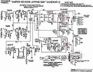 bf sf super reverb fendergurucom With deluxe 5e3 board layout fender deluxe reverb schematic tube schematics