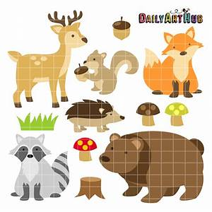 Woodland Animals Clip Art Set – Daily Art Hub – Free Clip ...