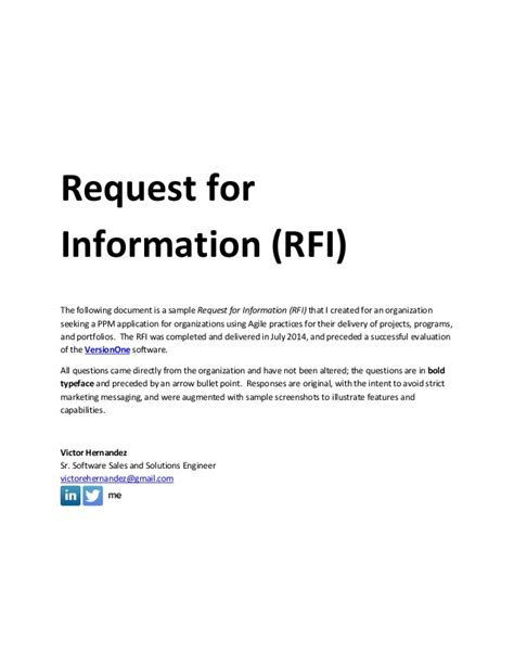sample request  information rfi document