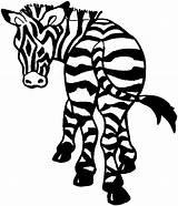 Zebra Coloring Printable Animals Wildlife Animal Getdrawings Drawing sketch template