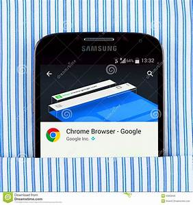 Chrome Browser On The Samsung Galaxy Display Editorial ...