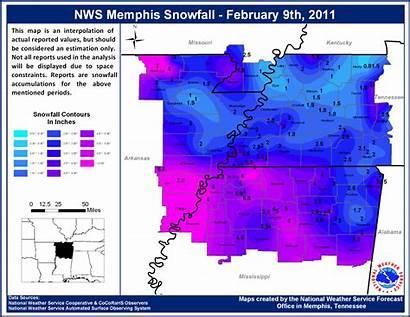 February Feb Snowfall Weather Memphis Winter Storm