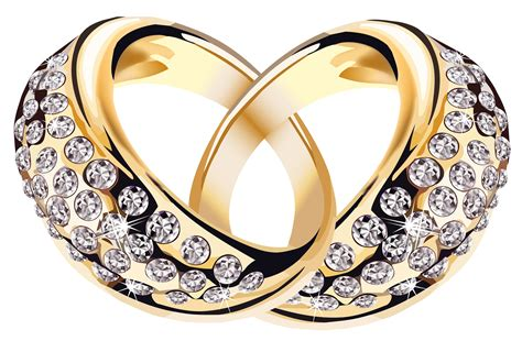 gold rings  diamonds png clipart picture gallery