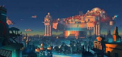 Rome Fiction Fantasy Science Digital Metropolis Night