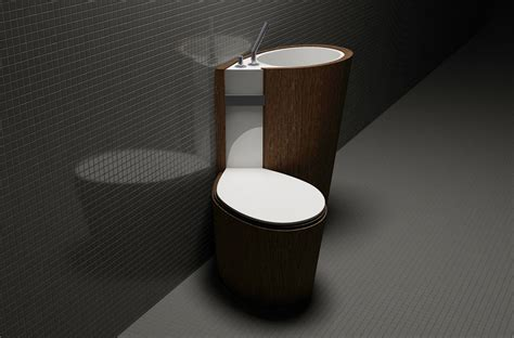 portable toilet sink combo za bor architects proposes an optimal combination of the