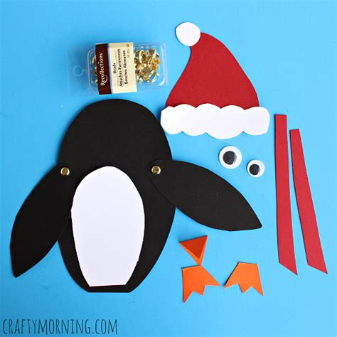 moveable christmas penguin craft for kids crafty morning