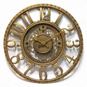 Open dial resin gear wall clock by infinity instruments for Open gear wall clock