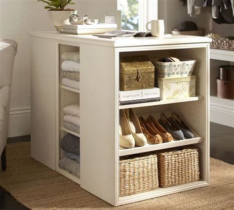 movable kitchen island sutton closet island pottery barn
