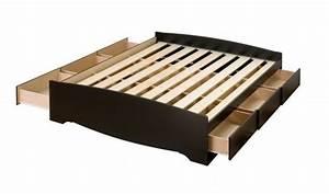 Lit Double Avec Tiroir : prepac base de lit plateforme avec 6 tiroirs de rangement double ~ Teatrodelosmanantiales.com Idées de Décoration