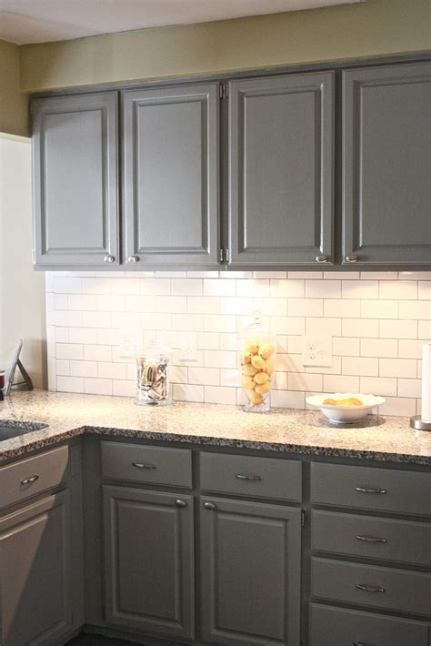 Backsplash With White Cabinets And Gray Walls by The Yellow Cape Cod Client Project Kitchen Before And After