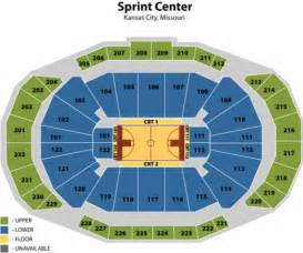 Mgm Grand Garden Arena Capacity by Sprint Center Seating Chart With Rows And Seat Numbers