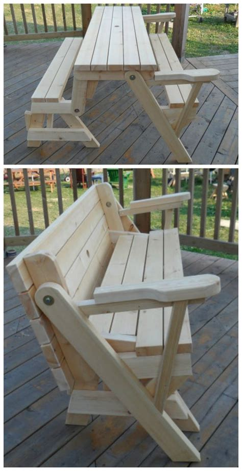 transformer bench picnic table built  youngwoo
