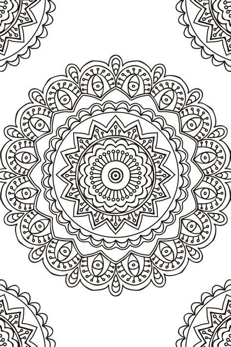 Mandala Descargable Para Colorear 2 Zentangle