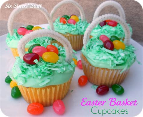 how to make easter cupcakes easter egg basket cupcakes six sisters stuff