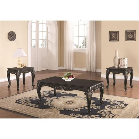 We furniture hairpin nesting metal and wood coffee table set 5. Black Wood Coffee Table Set - Steal-A-Sofa Furniture Outlet Los Angeles CA