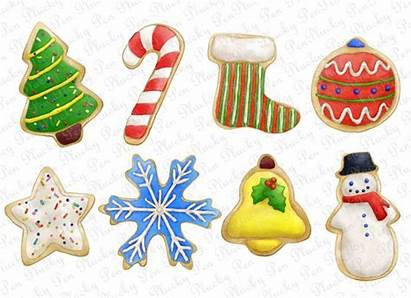 Cookies Clip Christmas Holiday Sugar Cookie Clipart