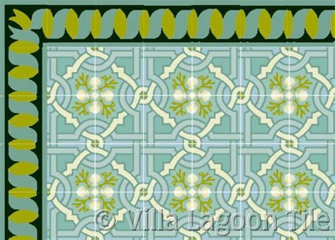 """""""Italian Trellis"""" Cement Tile Pattern   Villa Lagoon Tile"""