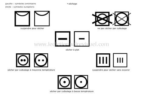 sigle seche linge etiquette vetement logo seche linge