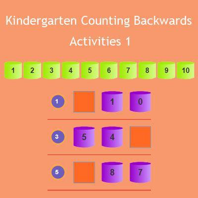 kindergarten counting  activities