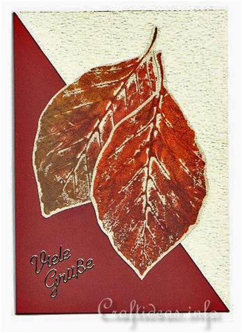 craft  card  autumn autumn leaves