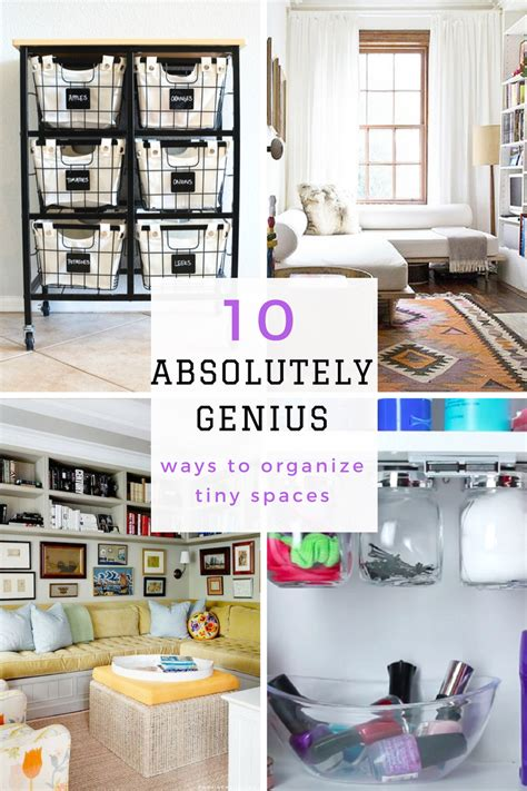 Organizing Closet Space by 10 Absolutely Genius Ways To Organize Tiny Spaces