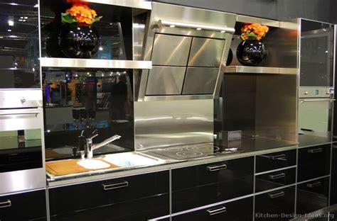 black gloss kitchen ideas gloss black kitchen home interior design