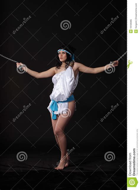 chained andromeda royalty  stock photo image