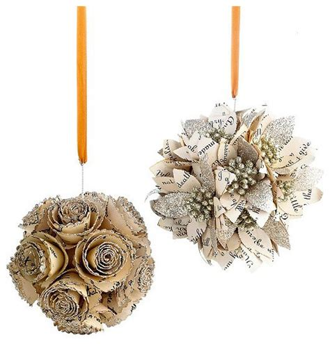 rustic christmas ornaments holiday lane set of flower cluster ornaments rustic christmas ornaments by macy s